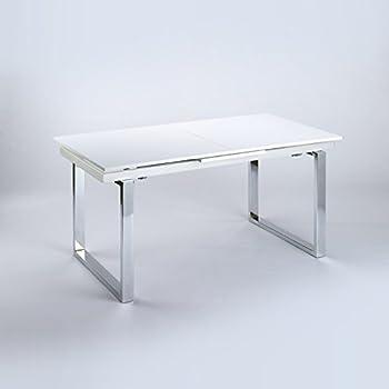 Tischplatte weiß hochglanz  Cavadore Ausziehbarer Kufentisch Vienna / Tisch mit in Hochglanz ...