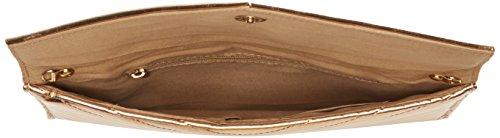 Swanky Swans Damen Marla V Stitch Metallic Clutch Bag, 2.5x17.3x29.2 cm Gold (Champagne Rose)