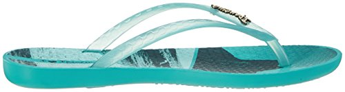Ipanema Damen Wave Tropical Fem Zehentrenner Mehrfarbig (green/green)
