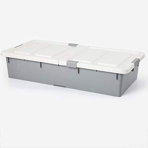 WKYDD King Size Bett Boden Aufbewahrungsbox Kunststoff Flache Schublade Kleidung Spielzeug Haushaltsgegenstände Aufbewahrungsbox (Color : B)