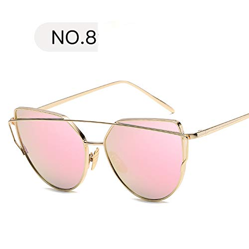 TYJYY Sunglasses Sunglasses Women Cat Eye Sun Glasses Lady Mirror Sun Gasses Men Glasses Female Vintage Glassesuv400