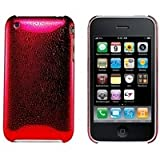 Logotrans Rain Series Custodia Rigida per Apple iPhone 3G/3GS, Colore: Rosso