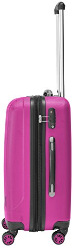 Packenger Velvet Koffer, Trolley, Hartschale  L in Magenta.   50x34x23cm -