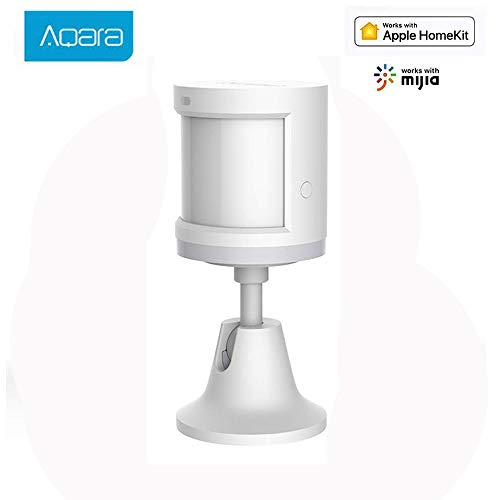 Xiaomi Aqara Human Body Motion Sensor,Connessione Wireless ZigBee Dispositivo di Sicurezza del Sensore di Movimento Umano