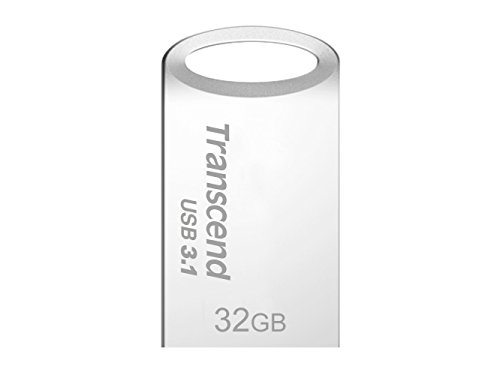 Transcend JetFlash 710 - Memoria USB 3.1 de 32 GB (resistente al agua, Flash MLC), color plata