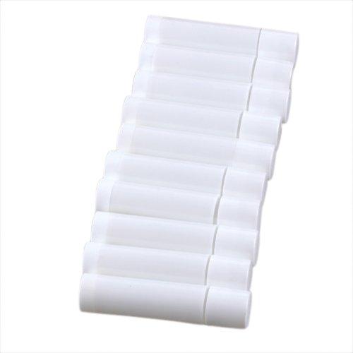 SODIAL (R) 100 Bianco Vuoto labbro Balsamo Tubo Contenitore