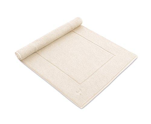möve Superwuschel Badteppich 60 x 60 cm aus 100% Baumwolle, ivory -