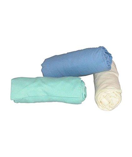ABB Diffusion Drap housse berceau, en jersey coton extensible, 40 x 80 cm , Coloris Anis