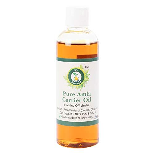 R V Essential Reines Amla Öl 100ml (3.38 Unzen) - Emblica Officinalis (100{0eddaead0cf93583e9d60c3d93fef8808836dc75b3acbdcbe5355585495e9a21} reine und natürliche seltene Herb Series) Pure Amla Oil