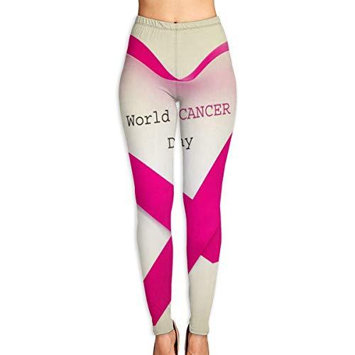 Deglogse Yogahosen, Trainingsgamaschen, Cancer Red Ribbon Womens Full-Length Sports Running Yoga Workout Leggings Pants Stretchable