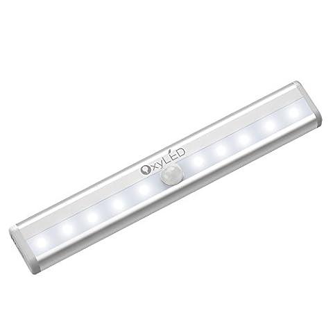 OxyLED T-02 Eclairage de Placard Veilleuse Détecteurs de Mouvement par