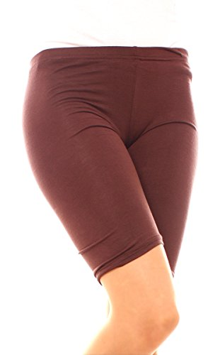 Easy Young Fashion Damen Legging Shorts Kurz Schoko