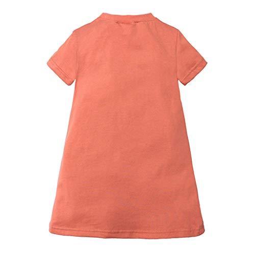 nder Baby Mädchen Mode Slip Prinzessin Kleider T-Shirt Beiläufige Lose Atmungsaktive Kleidung 1-6 Jahre ()
