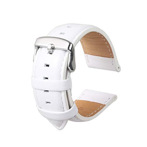 Uhrenarmband Fashion Panerai Herren Leder Ersatz Geeignet Für Traditionelle Uhren Zubehör Oder Sport Fashion Smart Armband Weiß20MM (Weiß Uhrenarmband Ersatz Herren)
