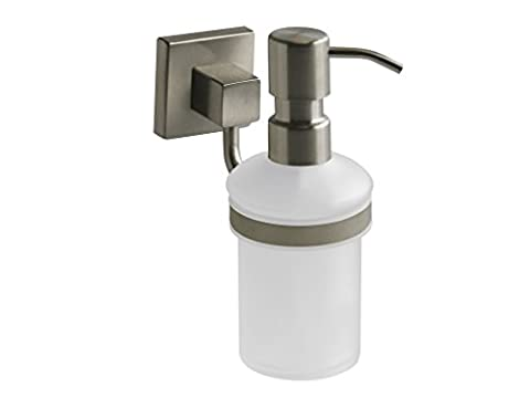 Bisk Nord Range Brushed Nickel Soap Dispenser with Frosted Safety