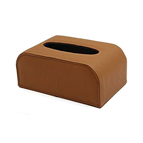 DealMux Magnetverschluss Basis Rechteck Tissue Box Serviette-Halter-Kasten Brown