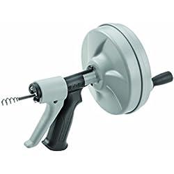 RIDGID57038 Déboucheur manuel Kwik-Spin+ avec AUTOFEED, câble à âme interne (IC) C-1 avec tarière à bulbe pour supprimer les obstructions
