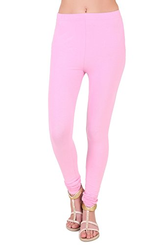 Zoyei Lycra Cotton Churidar Women's Pink Leggings - S (ZOSJLEG04A-S)