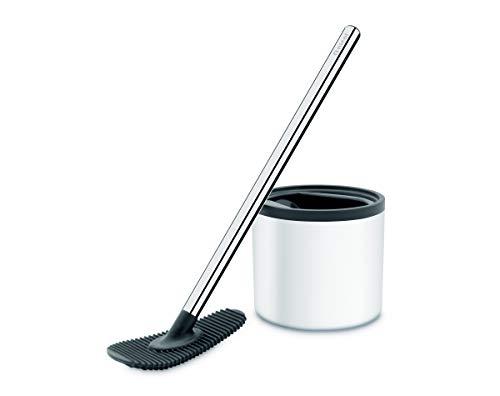 Nicol 4223226 WC-Champ weiß WC-Wischer ohne Borsten WC-Bürste mit Silikon-Pad - Edelstahl rostfrei