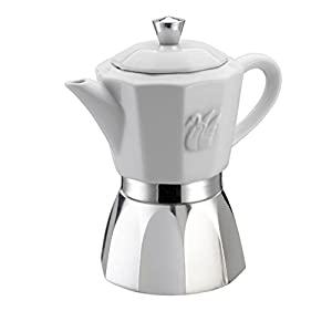 GAT Chic - Stove Top Espresso Coffee Maker - Suitable for Induction - Stainless Steel and Porcelain - Various Sizes