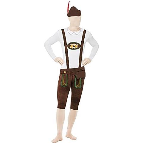 Smiffys bávaro segunda piel traje con sombrero/Bumbag/oculta Mosca y bajo la barbilla Apertura–Parent