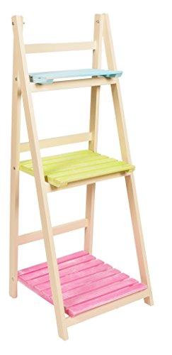 ts-ideen Etagère escalier 3 marches pour plantes et déco Différents coloris Jardin, balcon, terrasse, salon, entrée