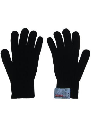 Thermolite-leichte Handschuhe (Thermolite by LD, Innenhandschuhe für Motorrad- / Skifahrer, Schwarz, wärmeisolierend, elastisch, Einheitsgröße)
