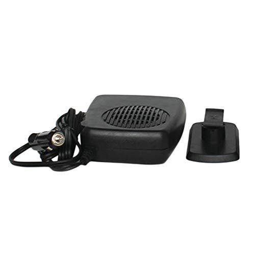 Chauffage automatique ventilateur de voiture de refroidissement à double fonction de dégivreur de véhicule antibrouillard du chauffage électrique portable avec poignée pivotante 150W - Noir