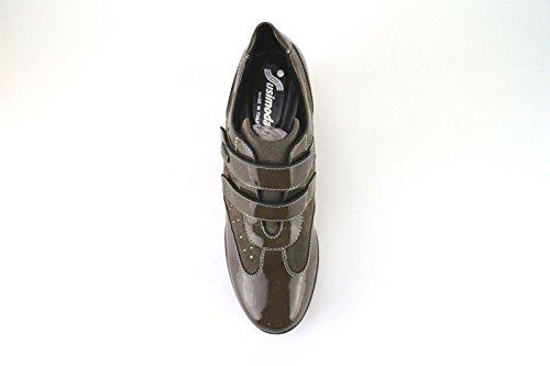 SUSIMODA sneakers Femme beige / marron daim cuir verni Beige/marron