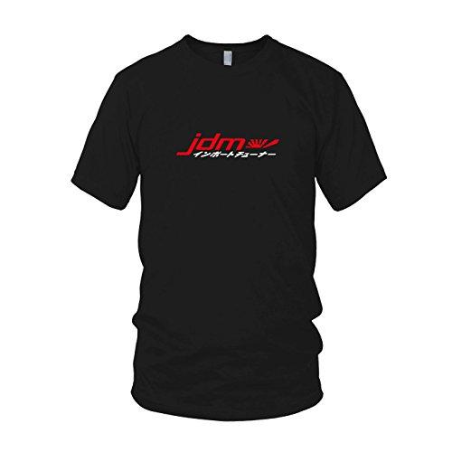 JDM Logo Japanisch - Herren T-Shirt, Größe: M, Farbe: schwarz