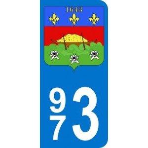 it Wappen Guyana Nummernschild-Auto (9,8x 4,5cm) ()