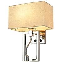 Wandleuchte Wandmontiert E27 Schlafzimmer Single Head LED Lesewandleuchte Postmodern Fabric Beleuchtung 304 Edelstahl preisvergleich bei billige-tabletten.eu