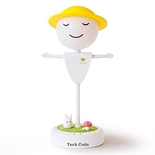 hCode® Dimmbar Sensor Nachttischlampe Niedlich Vögelkäfig Nachtlicht USB Aufladbar LED-Lampe mit USB Ladekabel für Baby Kinder (Vogelscheuche Warmweiß) (Vogelscheuche Baby)