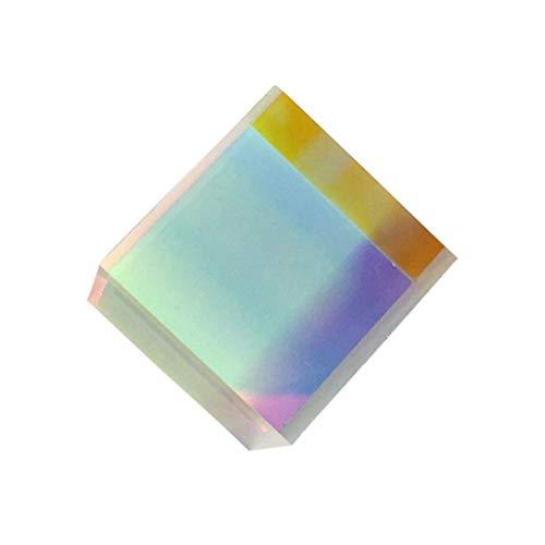 LEDMOMO Kristall Optisches Glas RGB-Dispersionsprisma Dreiecksprisma Prisma X-CUBE für Physikunterricht Dekoration kunst 10 x 10 x 10mm