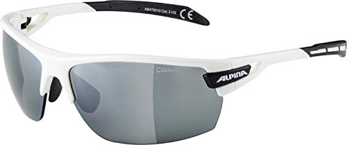 Alpina Sonnenbrille Amition TRI-Scray Sportbrille, White-Black, One Size