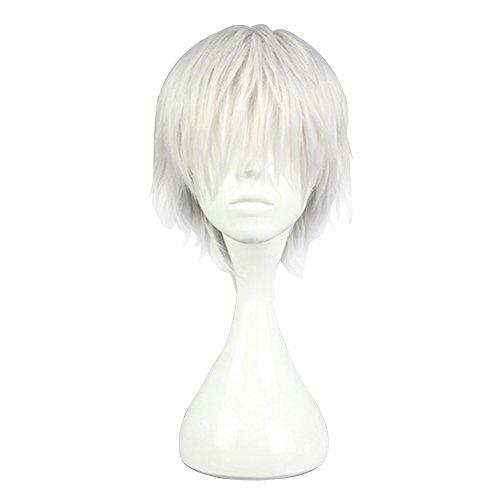Cosplay Anime White Wig + Free Wig Cap + Wig Cap
