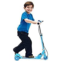 DARED Road Runner Scooter for Kids of 3 to 14 Years Age 3 Adjustable Height, Foldable, LED PU Wheels & Weight Capacity…