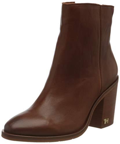 Tommy Hilfiger Damen Mono Color Heeled Boot Stiefeletten, Braun (Ginger Bread 202), 41 EU