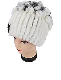 Ysting Real Conejo Rex de Punto Sombrero de Piel de Las Mujeres de Piel de  Conejo 092f520c4c93