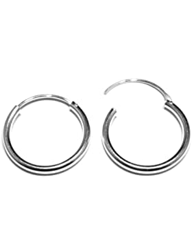 Arranview Jewellery Kinder-20mm Durchmesser Scharnier schwere Gewicht Sleeper Ohrringe Kreolen in Sterling Silber