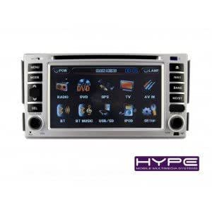 HYPE HSB8002GPS Autoradio 2 DIN GPS 16cm DVD iPod USB SD pour HYUNDAI SANTAFE ELANTRA SONATA