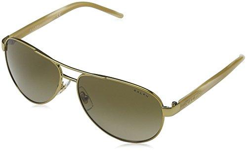 Ralph Lauren Purple Label Damen RA4004 Sonnenbrille, Schwarz (Gold Cream 101/13), One Size (Herstellergröße: 59)