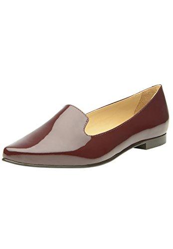 SHOEPASSION 48 WL Hochwertige Damen-Loafer in Bordeaux Edler Sommerschuh für Damen. Handgefertigt Aus Feinstem Leder in Italien. Atmungsaktiv, Leicht & Bequem. (Schuhe Italien Leder)