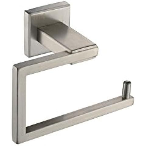 YUPD@Accessori bagno spazzolato 304 acciaio inossidabile parete montato toilet paper holder