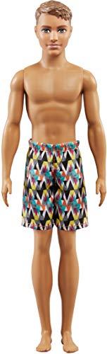 Barbie- Beach con Costume Stampato Colorato-Perfetto per L'Estate, FJF09