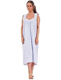 d196cfffde Bay eCom UK Ladies Nightwear Floral Print 100% Cotton Sleeveless Long  Nightdress M to XXXL
