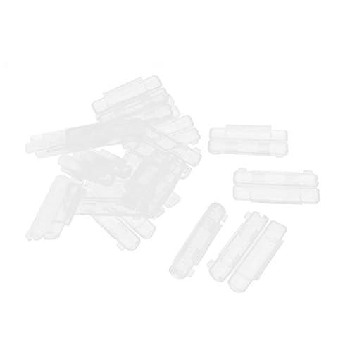 Lot de 20en plastique transparent panneau PCB Fusible Support Coque 55x 20mm