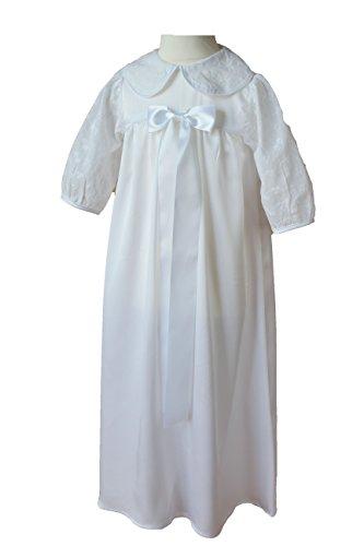 Mia vestito del battesimo battesimo tradizionale abito per ragazzo/ragazza bianco extra lungo bianco 0-6M EU