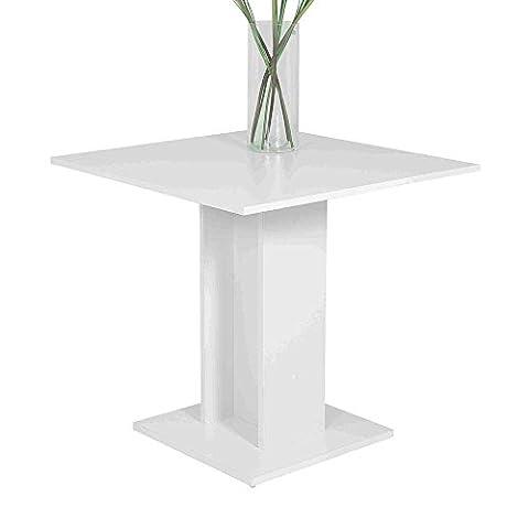 Säulen Esstisch in Weiß 80 cm Pharao24