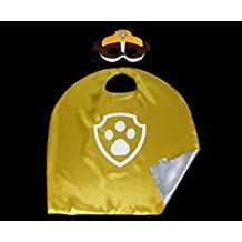 Kiddo Care Superhero Mask Costume Mask Costume Satin Cloak Satins Paw Patrol (Rubble)